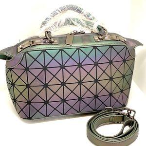Holographic Geometric💥NWT💥Satchel Bag